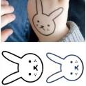 Tatouage temporaire enfant lapin