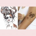 tatouage ephemere tete de cerf femme