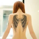 Tatouage ephemere aile d'ange
