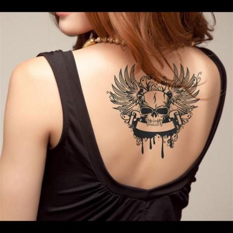 tatouage-ephemere-tete-de-mort-vampire