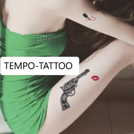 Tatouage-temporaire-révolver
