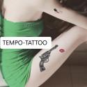 Tatouage temporaire révolver