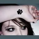 Tatouage temporaire pattes de chat