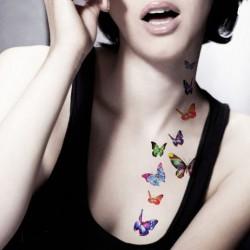 Tatouage-temporaire-papillons-multicouleur