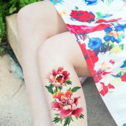 Tatouage-temporaire-fleur-rose