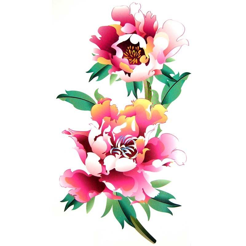 tatouage temporaire fleur rose tempo tattoo. Black Bedroom Furniture Sets. Home Design Ideas