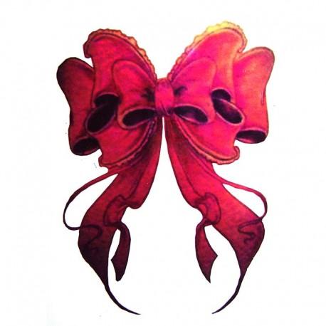 Tatouage-ephemere-noeud-rouge