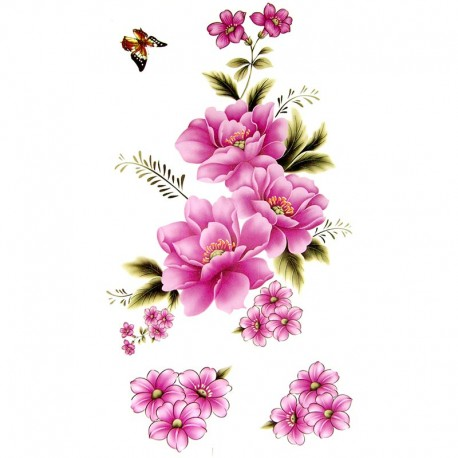 tatouage ephemere fleur de laurier rose tempo tattoo. Black Bedroom Furniture Sets. Home Design Ideas
