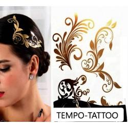 Tatouage-ephemere-doré-pour-cheveux