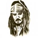 Tatouage ephemere pirate des caraibes
