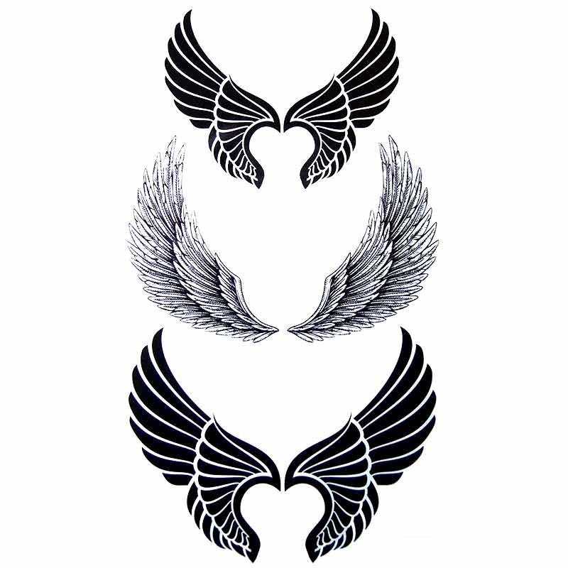 tatouage ephemere tatouage temporaire tatouage aile. Black Bedroom Furniture Sets. Home Design Ideas