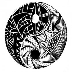 Tatouage-temporaire-mandala-Yin-Yang