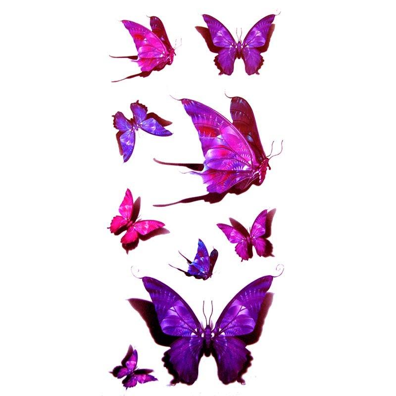 tatouage ephemere papillon 3d tempo tattoo. Black Bedroom Furniture Sets. Home Design Ideas