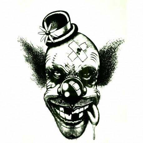Tatouage-ephemere-tête-de-clown
