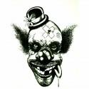 Tatouage ephemere tête de clown