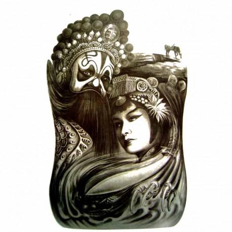 Tatouage-ephemere-Reine-et-Roi-Mongol