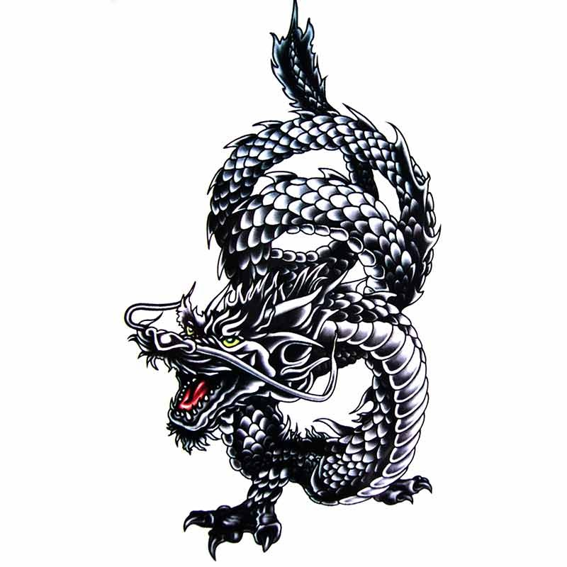 tatouage ephemere dragon faux tatouage dragon tatouage. Black Bedroom Furniture Sets. Home Design Ideas