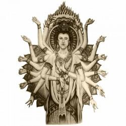Tatouage-ephemere-Shiva