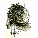 Tatouage ephemere Lion et attrape rêves