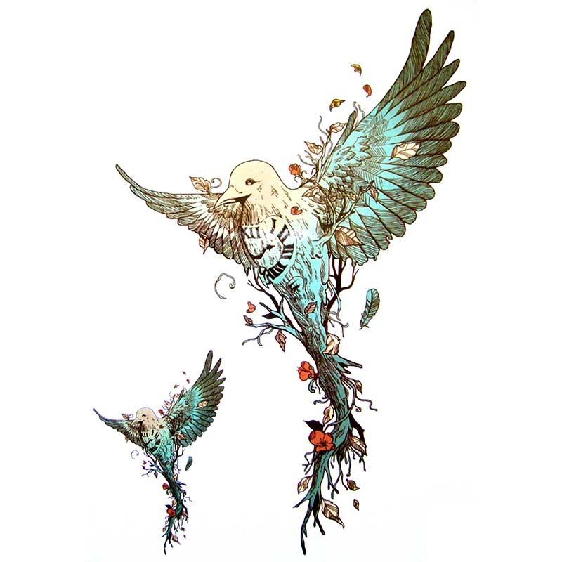 tatouage ephemere oiseau colibri tempo tattoo. Black Bedroom Furniture Sets. Home Design Ideas