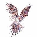 Tatouage ephemere perroquet tribal