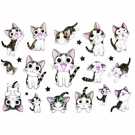 tatouage enfant, tatouage ephemere, tatouage temporaire chat
