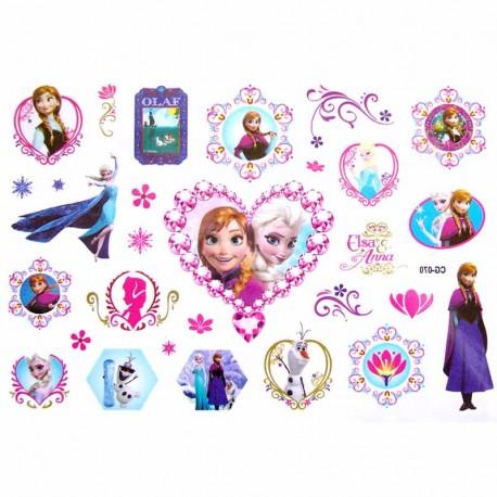 tatouage ephemere enfant princesses et coeur