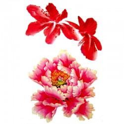 Tatouage ephemere fleur d'hibiscus et de tiaré
