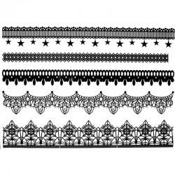 Tatouage ephemere dentelle bracelet et collier
