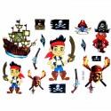 Tatouage éphémère enfant bateau de pirate