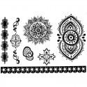 Tatouage dentelle éphémère bracelet et mandala