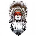 Tatouage éphémère Femme Indienne rouge
