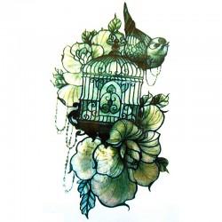 Tatouage-ephemere-cage-a-oiseaux