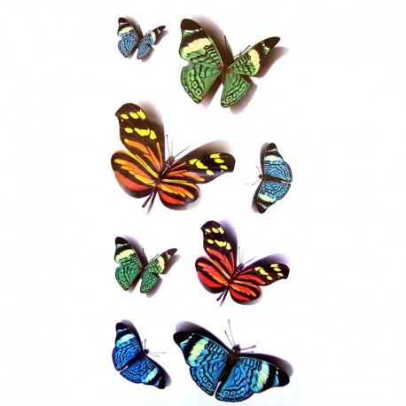 Tatouage-temporaire-papillon-multicouleu-3-D
