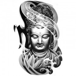 Tatouage-ephemere-Bouddha