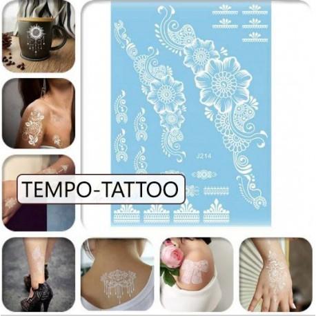Tatouage-temporaire-fleurs-blanche