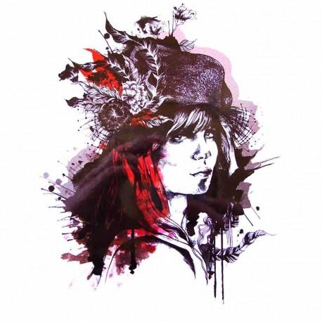tatouage-ephemere-portrait-femme-graphique