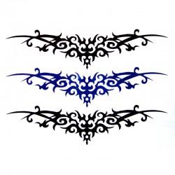 Tatouage-temporaire-tribal-noir-et-bleu