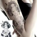 tatouage temporaire geisha