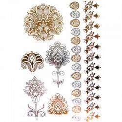 Tatouage-ephemere-fleur-de-vie-et-bracelet-metallique