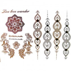 tatouage-ephemere-metallise-fleurs-mandala-et-arabesques