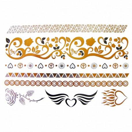 Tatouage-ephemere-metallique-coeur-enflame-et-bandeau-de-bras