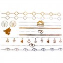 Tatouage temporaire métallique chaines pour cheville et bracelet