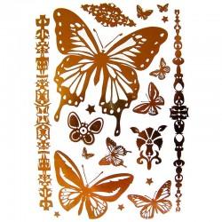 tatouage-temporaire-metallise-papillons-dores