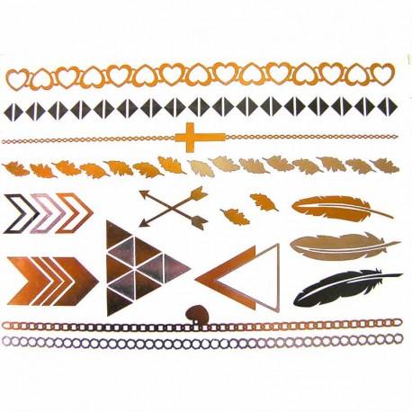 tatouage-temporaire-metallique-graphique-plume-et-croix