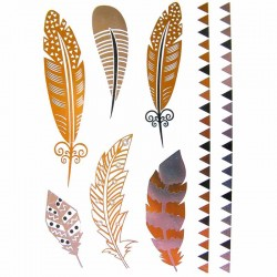 tatouage-metallise-plume-et-bracelet