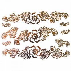 tatouage-metallique-fleur-dore