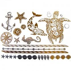 tatouage-metallique-animaux-de-la-mer
