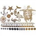 Tatouage métallique animaux de la mer