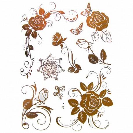 tatouage-temporaire-dore-roses